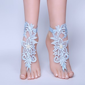 Beach Pool Belly Dance Lace Bride Anklet AF1310012
