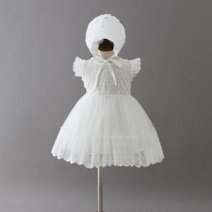 A-Line/Princess-Line Floor-Length Christening Robe - Lace/Tulle Sleeveless Jewel-Neck CH1310007