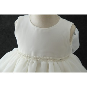 A-Line/Princess-Line Floor-Length Christening Robe - Chiffon Sleeveless Jewel-Neck CH1310012