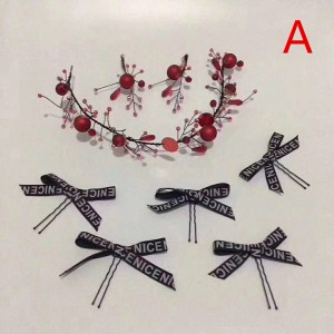 Ladies Imitation Pearls/Silk Flower Headbands AX1011