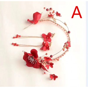 Beautiful Ladies Imitation Pearls/Silk Flower Headbands AX1012