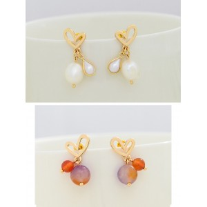 Beautiful Alloy Rhinestones With Rhinestone Women's Fashion Earrings E902
