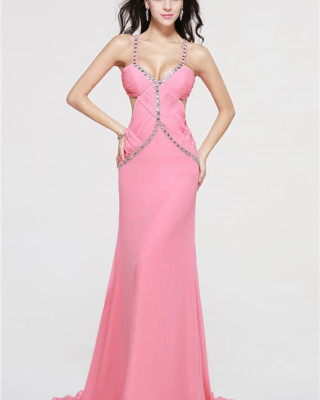 Elegant  Pink Prom Gowns HDP20185211